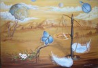 Surreal, Malerei, Acrylmalerei, Gleichgewicht