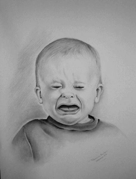 Portrait, Kind, Zeichnung, Traurig, Zeichnungen