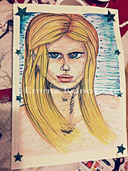 Comic, Selbstportrait, Zeichnungen,