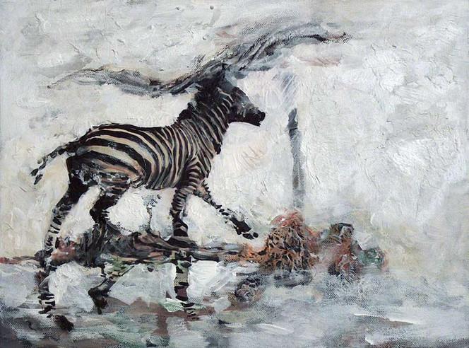 Weiß, Malerei, Wind, Figural, Weite, Zebra