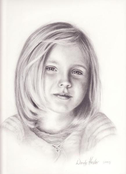 Portrait, Kind, Bleistiftzeichnung, Zeichnungen