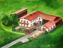 Landschaft, Haus, Grün, Garten