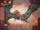 Löwin, Löwe, Afrika, Skizze