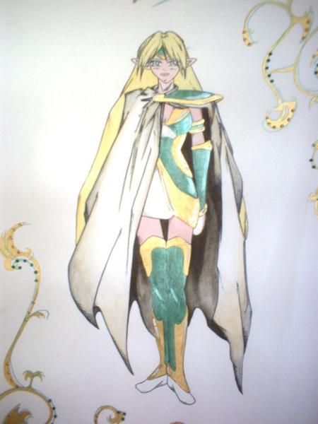 Manga, Kriegerin, Zeichnungen
