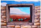 Fenster, Landschaft, Malerei