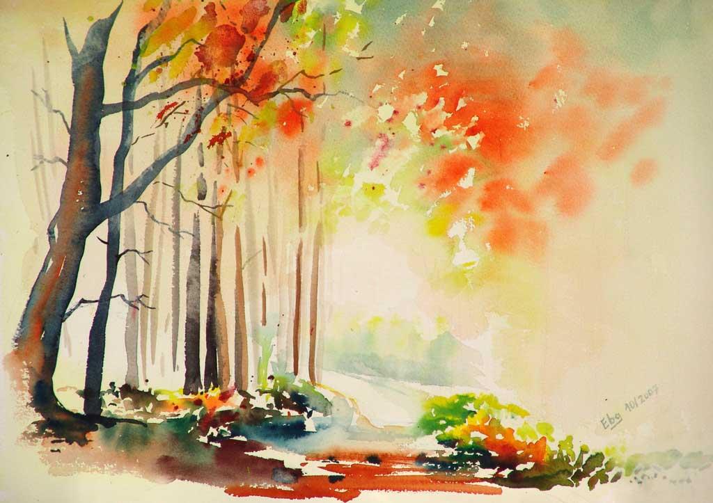 Bild Waldlichtung, Herbst, Blätter, Wald von Rainer