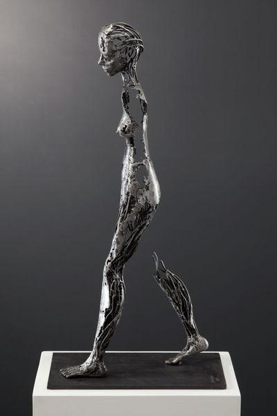 Figurativ, Skulptur frau metall, Weiblich, Metall, Figural, Schweißen