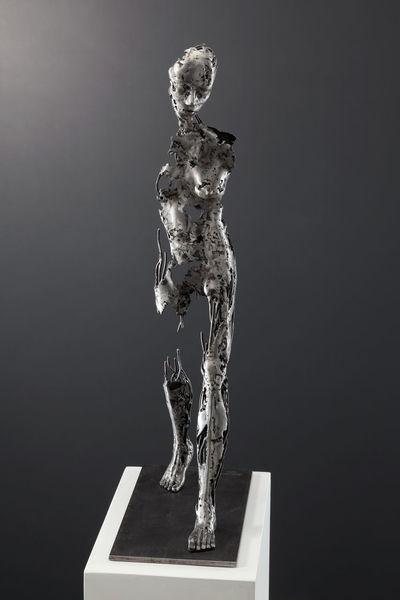 Weiblich, Figurativ, Eisen, Skulptur, Schweißen, Plastik