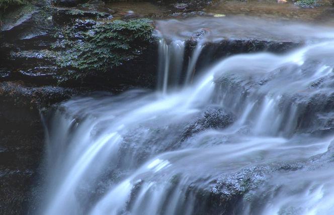 Bach, Wasserfall, Wasser, Blau, Fotografie,