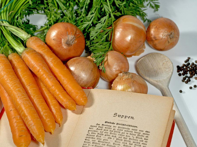 Schrift, Antik, Nachschlagen, Küche, Wurzelgemüse, Rezept