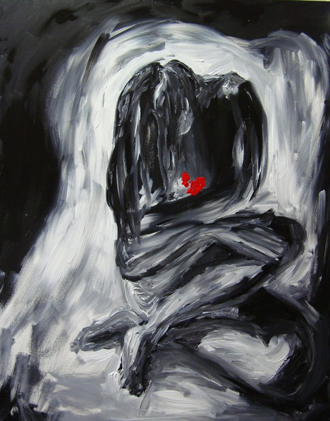 Herz, Stunde, Liebe, Traurigkeit, Figural, Schmerz