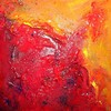 Seele, Feuer, Farben, Malerei