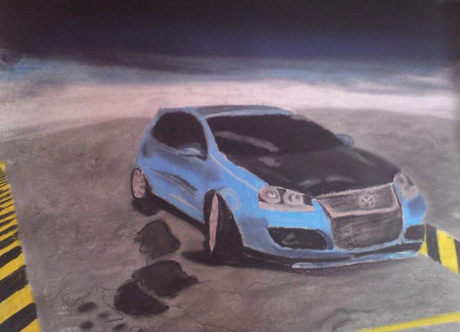 Vw, Auto, Rennwagen, Gti, Malerei