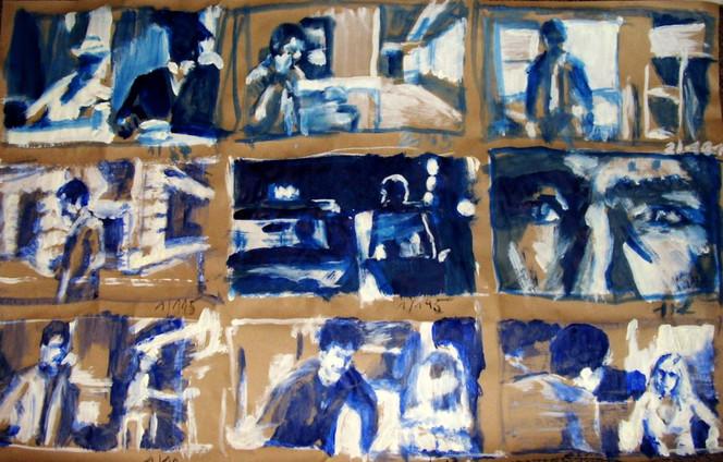 Malerei, Taxi, Fahrer, Scorsese, Skizze, Schnell