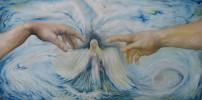 Malerei, Surreal, Ölmalerei, Frau