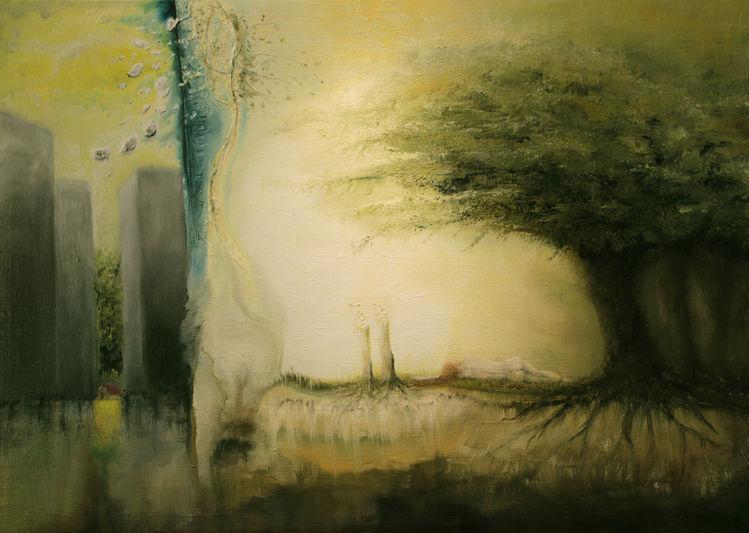 Vertreibung, Zerstörung, Baum, Natur, Wald, Paradies