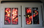 Galaxie, Universum, Fenster, Plastik