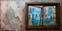 Landschaft, Venedig, Malerei, Acrylmalerei