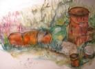 Rostig, Grafik, Aquarellmalerei, Aquarell