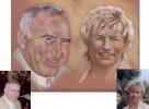 Portrait, Pastellmalerei, Kreide, Zeichnung