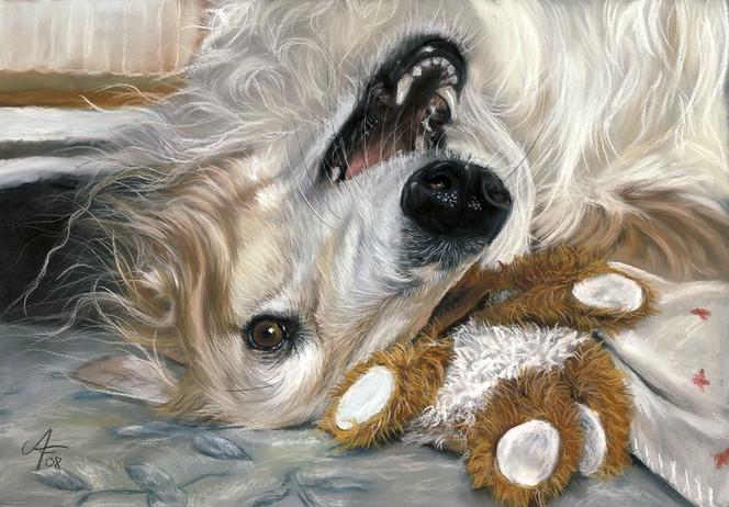 Barsoi, Figural, Malerei, Russischer windhund