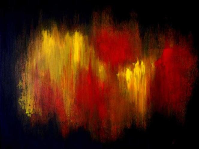 Einsamkeit, Angst, Alltag, Malerei, Abstrakt
