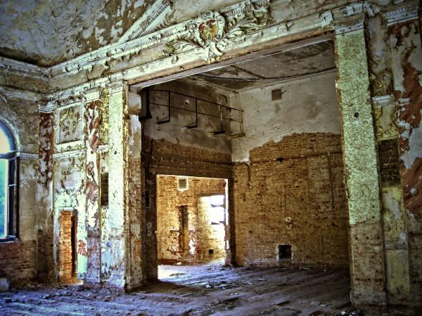 Raum, Verfall, Fotografie, Architektur