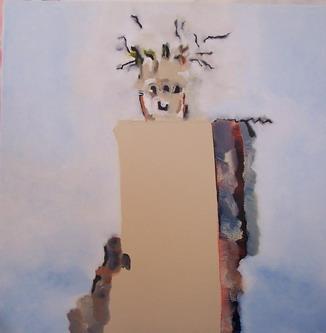 1958, Malerei, Haus,