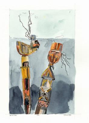 1958, Zeichnungen, Leben, Tod,