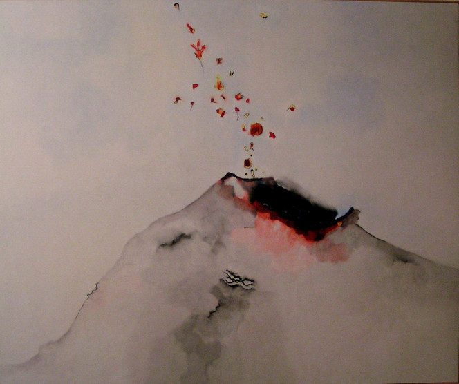 1958, Malerei, Vulkan,