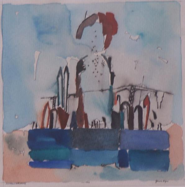 1958, Zeichnungen, Kathedrale,