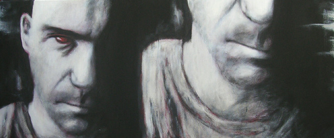 Schizophren, Figural, Malerei, Leben,