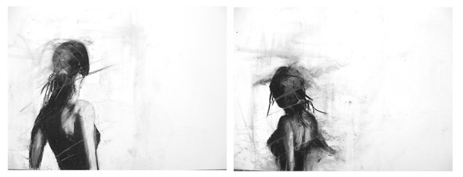 Zeichnungen, Portrait, Ausblick, Frau