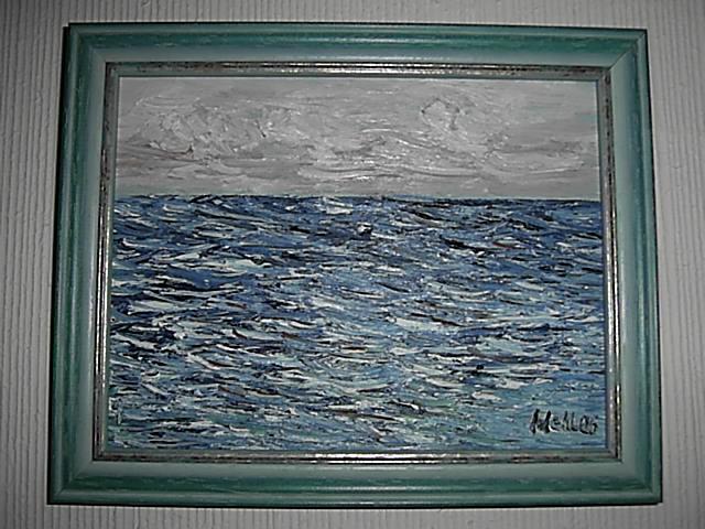 Wolken, Malerei, Landschaft, Ozean, Meer, Himmel