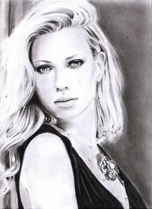 Portrait, Scarlett johansson, Zeichnung, Zeichnungen