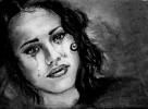 it hurts so bad - jessica alba helena ruschig kohlezeichnung www helisartpage de