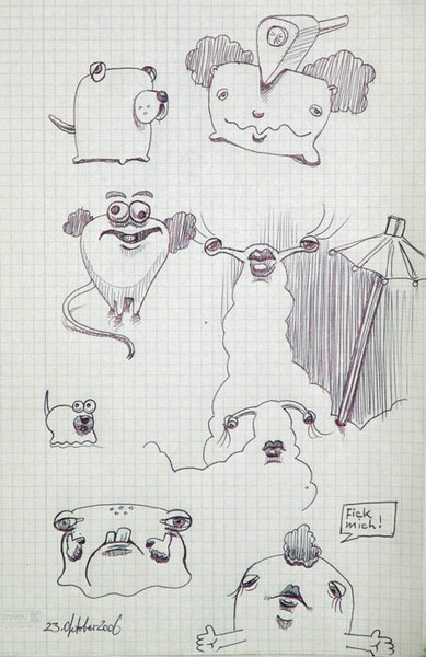 Zeichnung, Zart, Wesen, Zeichnungen,