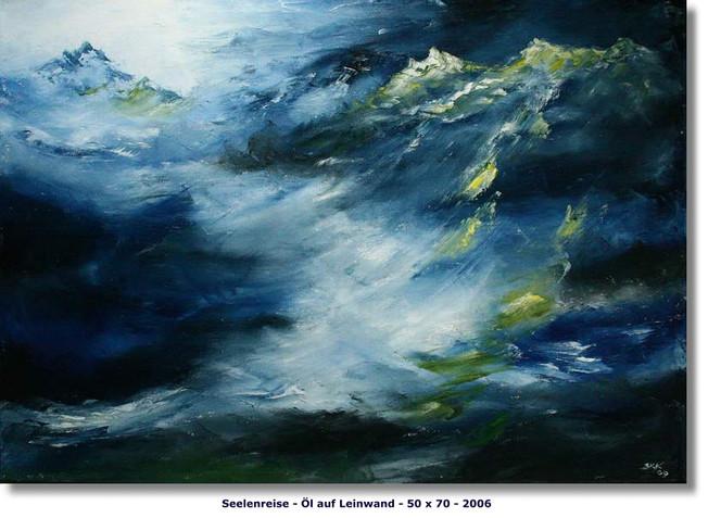 Reise, Seele, Abstrakt, Meer, Blau, Sturm