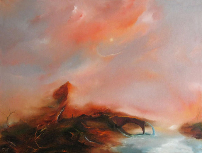 Stille, Landschaft, Traum, Malerei, Schaften