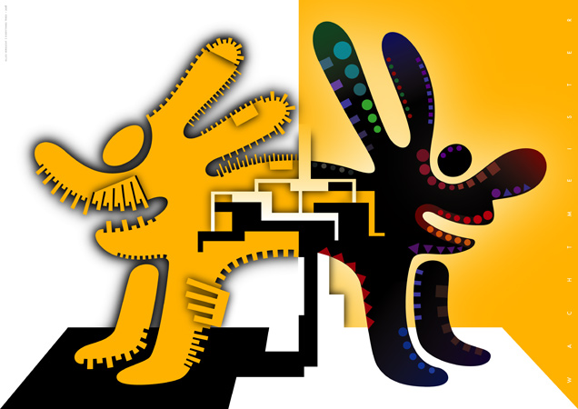 Tiere, Paar, Vektor, Licht, Grafik, Farben