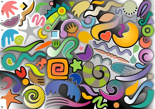 Beziehung, Farben, Abstrakt, Formen, Komposition, Symbolik