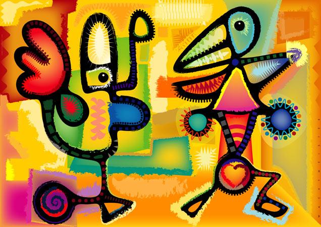 Komposition, Situation, Figur, Figurativ, Liebe, Formen