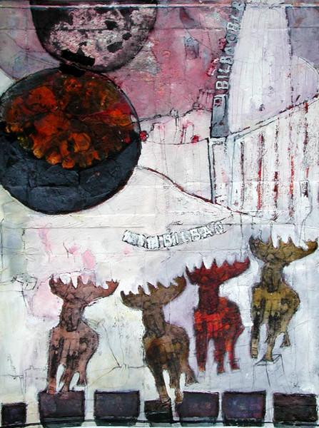 Tiere, Geweih, Hirsch, Gesicht, Bilbao, Schnee