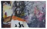 Collage, Malerei, Zeichen