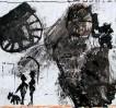 Gespräch, Malerei, Frau, Hund