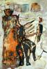Menschen, Malerei, Tiere, Frau