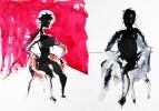 Temperamalerei, Malerei, Figur, Frau