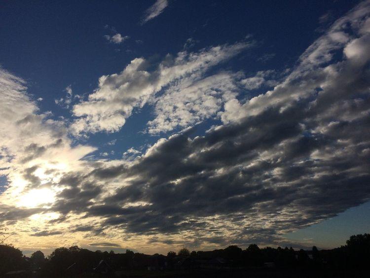 Wolken, Herabsinkende nacht, Sonne, Himmel, Fotografie, Mond