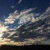Herabsinkende nacht, Sonne, Himmel, Wolken