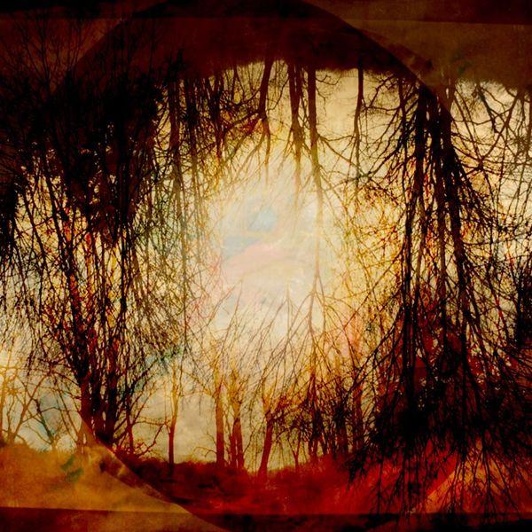 Sonne, Abend, Leuchten, Mischtechnik,